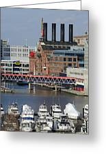 Inner Harbor - Baltimore - Maryland Greeting Card by Brendan Reals