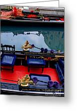 Inside Gondola In Venice Greeting Card by Michael Henderson
