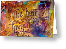 Inside Out Greeting Card by Angela L Walker
