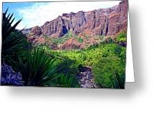 Inside Waimea Canyon Greeting Card by Kevin Smith