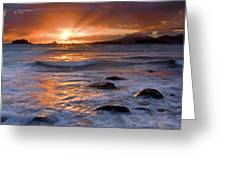Inspired Light Greeting Card by Mike  Dawson