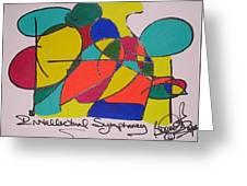 Intellectual Symphony Greeting Card by Brenda Basham Dothage