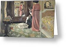 Interior Greeting Card by Felix Edouard Vallotton
