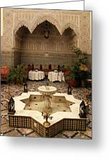 Interior Of A Traditional Riad In Fez Greeting Card by Ralph A  Ledergerber-Photography