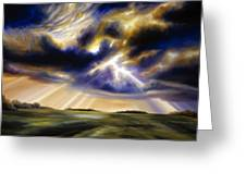 Iowa Storms Greeting Card by James Christopher Hill
