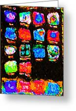 Iphone In Abstract Greeting Card by Wingsdomain Art and Photography