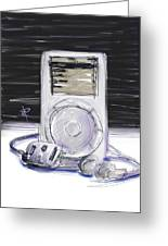 iPod Greeting Card by Russell Pierce