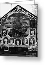 Ira Wall Mural Belfast Greeting Card by Joe Fox