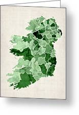 Ireland Watercolor Map Greeting Card by Michael Tompsett