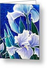 Iris Greeting Card by Francine Dufour Jones