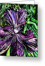 Iris Greeting Card by Mindy Newman