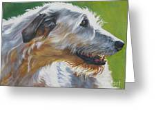 Irish Wolfhound Beauty Greeting Card by L A Shepard