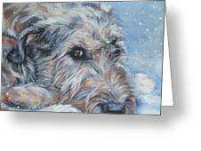 Irish Wolfhound Resting Greeting Card by Lee Ann Shepard