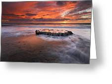 Island In The Storm Greeting Card by Mike  Dawson