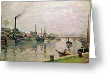 Island Of The Cross At Rouen Greeting Card by Camille Pissarro