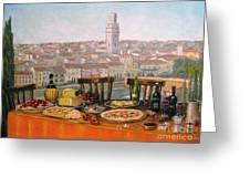 Italian Cityscape-verona Feast Greeting Card by Italian Art
