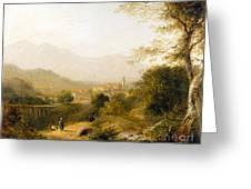 Italian Landscape Greeting Card by Joseph William Allen
