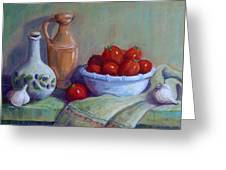 Italian Still Life Greeting Card by Candy Mayer