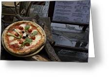 Italy, Tuscany, Florence, A Pizza Greeting Card by Keenpress