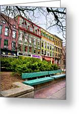 Ithaca Commons Greeting Card by Christina Rollo