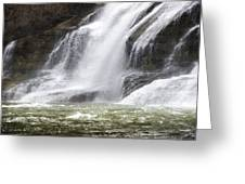 Ithaca Falls On Fall Creek - Mountain Showers Greeting Card by Christina Rollo