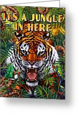 It's A Jungle  Greeting Card by JQ Licensing