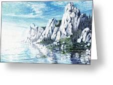 Ivory Cliffs Greeting Card by Nils Beasley