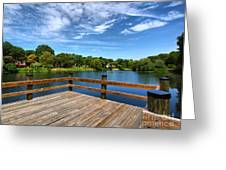 Jackson Pond Greeting Card by Valerie Morrison