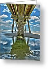 Jacksonville Beach Pier Greeting Card by Joe Hickson