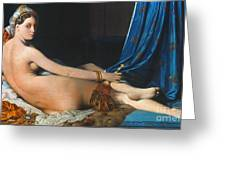 J.A.D. INGRES: ODALISQUE Greeting Card by Granger