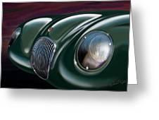 Jaguar C Type Greeting Card by David Kyte