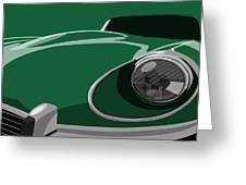 Jaguar E-Type Greeting Card by Michael Tompsett