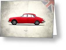 Jaguar Mark 2 1959 Greeting Card by Mark Rogan