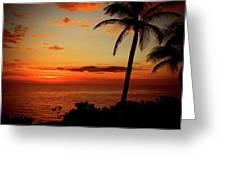 Jamaican Sunset Greeting Card by Kamil Swiatek