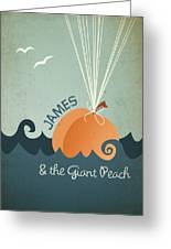 James And The Giant Peach Greeting Card by Megan Romo