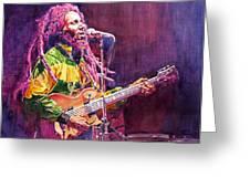 Jammin - Bob Marley Greeting Card by David Lloyd Glover