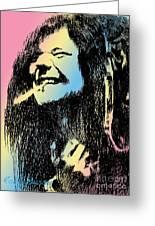 Janis Joplin Greeting Card by Robbi  Musser