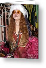 Janis Joplin Greeting Card by Sophie Vigneault