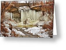 January Melt At Wequiock Falls Greeting Card by Shutter Happens Photography