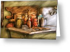 Jars - The Process Of Canning Greeting Card by Mike Savad