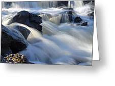 Jasper Falls Closeup Greeting Card by Larry Ricker