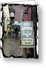 Jazz Brunch Greeting Card by Linda Kish