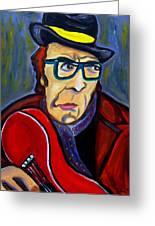 Jazz Man Greeting Card by Azalea Millet