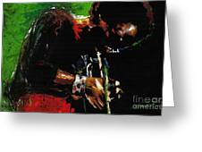 Jazz Miles Davis 1 Greeting Card by Yuriy  Shevchuk