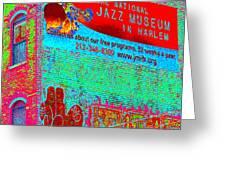Jazz Museum Greeting Card by Steven Huszar