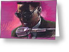 Jazz. Ray Charles.1. Greeting Card by Yuriy  Shevchuk