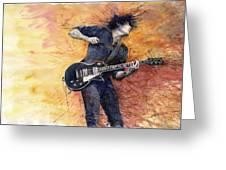 Jazz Rock Guitarist Stone Temple Pilots Greeting Card by Yuriy  Shevchuk