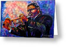 Jazz Solo Greeting Card by Linda Marcille