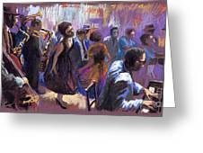 Jazz Greeting Card by Yuriy  Shevchuk