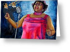 Jazzy Lady Greeting Card by Linda Marcille